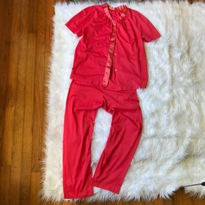 True Vintage Sears Coral Pink Nylon 2 Piece Set 34